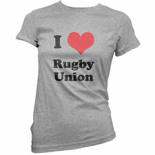 I Love Rugby Union - Womens / Ladies T-Shirt - Clothing - Jersey - Shirt