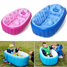 Portable Baby/Kid/Toddler Inflatable Bathtub Newborn Thick Bath Tub Summer