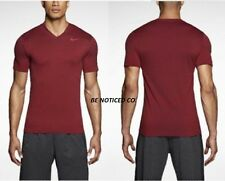 Nike Ultimate Dry V-Neck Men's Training Shirt S L XL 2XL Red Gym Casaul New