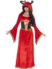 Adult Sexy Red Demonic Devil Queen Ladies Halloween Fancy Dress Costume Outfit