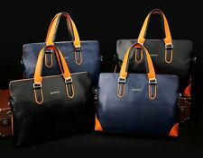 Mens Genuine Leather Tote Laptop Bag Briefcase Business Messenger/Shoulder Bag