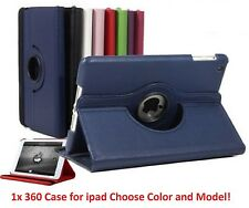 360 Rotating Smart Leather Case Cover with stand for Ipad 2 2nd 3 3rd 4 4th Gen