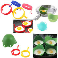 Utility 2X Kitchen Silicone Fried Fry Frier Oven Pancake Egg Poach Mould