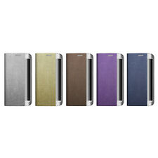 Zenus Metallic Leather Protect Card Diary Cover Case For Samsung Galaxy S7 Edge