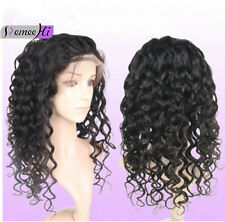 """New Deep Curly 100% Indian Remy Human Hair Lace Front /Full Lace Wig 12""""-22"""""""