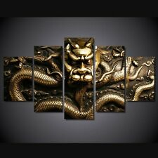 Frames picture 3D golden dragon Canvas Wall Art painting HD print Photo Poster