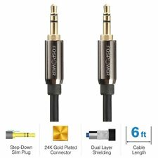 3.5mm Male to 3.5mm Male Stereo Audio Cable - Step Down Design AUX.
