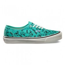 VANS OG AUTHENTIC LX SNOOPY AND THE GANG BLUE TURQUOISE MENS SHOES CLEARANCE