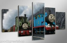 Framed cartoon train Thomas the Tank Engine picture photo Canvas Decor Poster