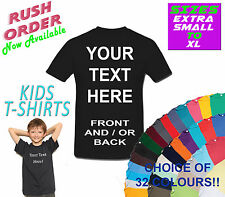 CHILDREN'S CUSTOM PERSONALISED DESIGN YOUR OWN T SHIRTS