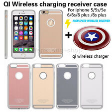 ROHS QI Wireless Charging Receiver Case + Charger For iPhone 5 SE 5S 6 Plus 6S