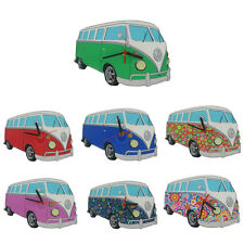 VW T1 Campervan Cut Out Wall Clocks Officially Licensed Volkswagen Gift Merch