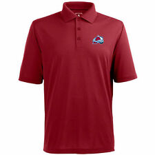 Antigua Colorado Avalanche Burgundy Pique Xtra-Lite Polo