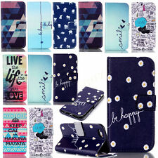 Patterned PU leather wallet case for Samsung iPhone MOTO LG Nokia protect skin