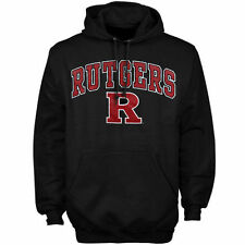 Rutgers Scarlet Knights Black Arch Over Logo Hoodie
