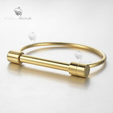 Gold bar bracelet silver stainless steel bangle fashion attitude new arrival