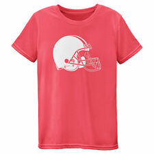 Cleveland Browns Girls Youth Pink Neon Logo T-Shirt - NFL
