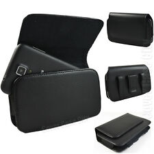 PREMIUM Leather Sideways Belt Clip Case Pouch Holster for Samsung Cell Phones