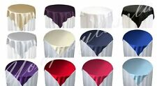 "10 Piece 60"" x 60"" Square Satin Table Overlay Party Event Celebration Occasion"