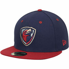 New Era Lancaster JetHawks Navy/Red Authentic Road 59FIFTY Fitted Hat