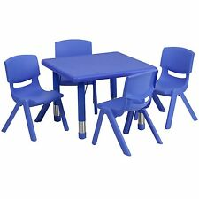 Square Table & Chairs CHOOSE YOUR SEAT HEIGHT +FREE SHiP Preschool daycare table