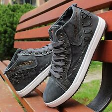 2016 Men's High top Sneakers Canvas Casual Breathable England Recreational Shoes