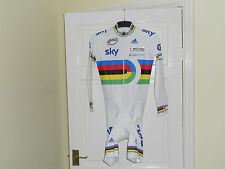 NEW TEAM ISSUE GB SKY UCI world champion stripes cycling skinsuit -PADDED SHORTS