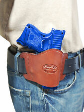 New Barsony Burgundy Leather Gun Quick Slide Holster for Ruger Compact 9mm 40 45