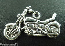 Gift Wholesale Silver Tone Motorcycle Charms Pendants 24x14mm
