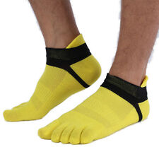 5Pairs Men's Five Finger Toe Socks Cotton Socks Sports Casual Breathable Low-Cut