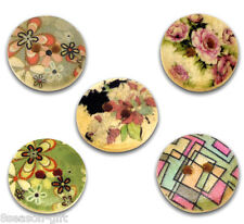 Gift Wholesale Mixed Wood Painting Sewing Buttons 15mm B12322
