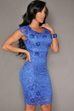 Women Sexy Enticing Lace Surface Backless Fashion Bodycon Dress with Lining