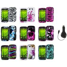 Design Hard Case Cover Accessory+RET Charger for Blackberry Torch 9850 9860