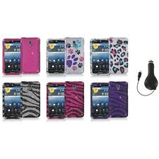 Color Bling Diamond Rhinestone Case Cover+RET Charger for Pantech Discover P9090