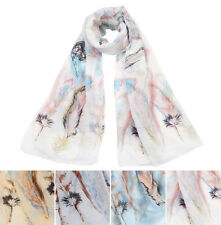 Elegant Painted Flower Floral Print Scarf Wrap - Different Colors