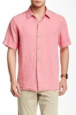 NEW Tommy Bahama Relax Mens Breezer 100% Linen Camp Shirt Relaxed Fit Lehua Red