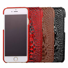 Crocodile Design PU Leather Skins for Apple iPhone 7 / 7 Plus Brown Hard Cases