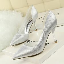 Shallow Solid Cut Out Lady PU Women Shoes Pointed High Heel Party Classics Pumps