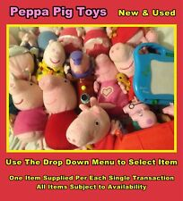 Peppa Pig Soft Toys / Plastic Toys Plus More : Use Drop Down Menu to Select Item