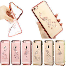 Luxury Bling Crystal Diamond Soft TPU Clear Back Case Cover For iPhone 6 6s Plus