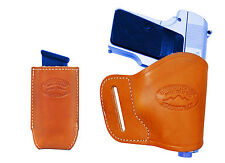 NEW Barsony Tan Leather Yaqui Holster + Mag Pouch Cobra EAA MiniPocket 22 25 380