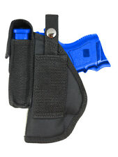 New Barsony Gun Belt Loop Holster w/ Mag Pouch Glock Compact, Sub-Comp 9mm 40 45