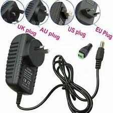 12V DC 2A Power Supply Adapter Charger Transformer Plug FOR CCTV LED STRIP LIGHT