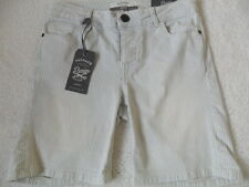 FAT FACE BLUE TICKING STRIPE FADED VINTAGE WASH COTTON STRETCH CASUAL SHORTS  6