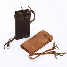 Retro Men's Genuine Leather Long Clutch Wallet Credit/ID Card Holder Money Purse