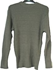 British Army Surplus Army Jumper Green Pullover Wool Military Clothing Cadet