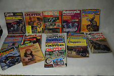Lot of 26 Motorcycle Magazines 1970's - Choppers, Custom Bikes, Big Bikes, Cycle