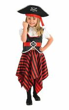 Kids Caribbean Pirate Captain Girls Book Week Fancy Dress Costume Party Outfit