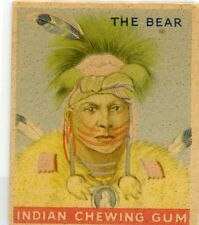 GOUDEY GUM CO INDIAN CHEWING GUM 192 Card series no. 75 The Bear