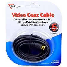 TriQuest Coaxial Male to Male RG59 Video Cable w/Gold-Plated Connectors